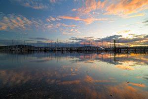Anacortes, washington, Sunset , Marina, Boats