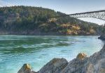 Early light at Deception Pass Bridge, Deception Pass State Park, Washington
